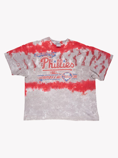 Philadelphia Phillies MLB Tie Dye T-Shirt Red/Grey Size XL
