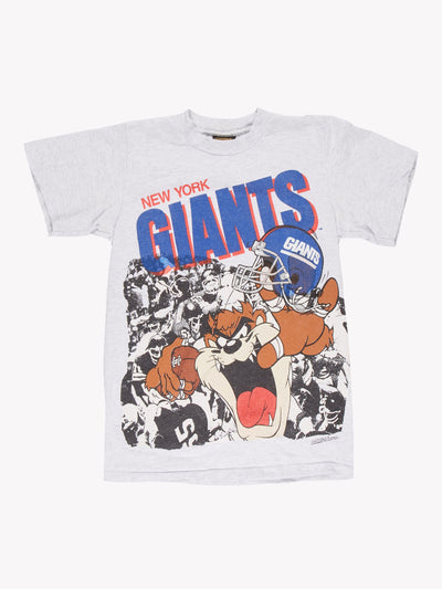 Looney Tunes x New York Giants T-Shirt Grey/Blue/Red Size XS