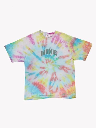 Nike Tie Dye T-Shirt Blue/Pink/Yellow Size Medium