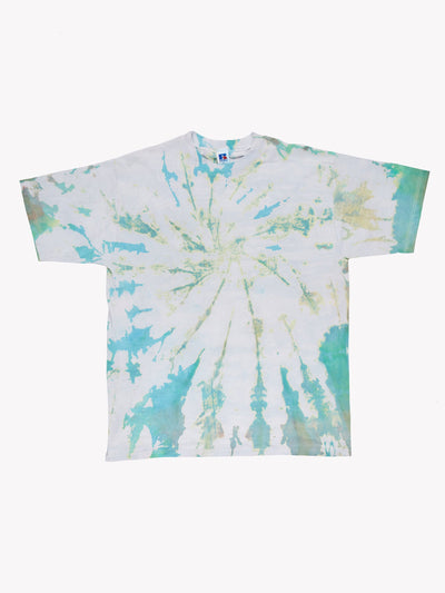 Russell Athletic Tie Dye T-Shirt Blue/Green Size XL