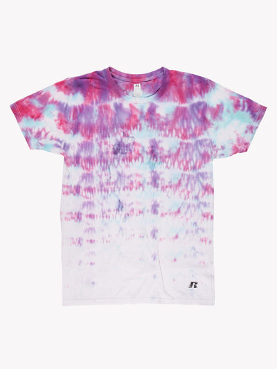 Russsell Athletic Tie Dye T-Shirt Pink/Purple/Blue Size Medium