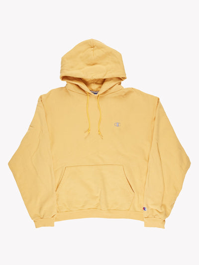Champion Hoodie Yellow Size Medium