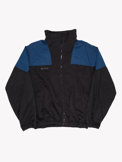 Columbia Jacket Black/Blue Size Medium