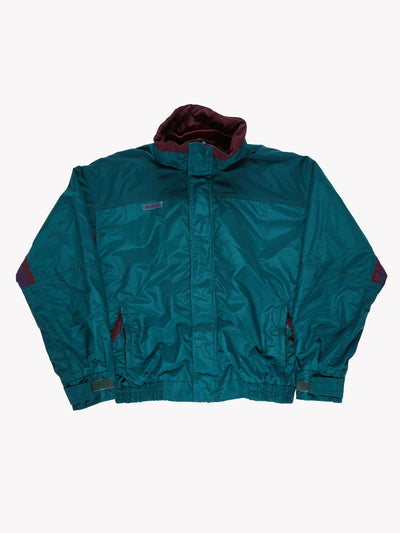 Columbia Jacket Green/Purple Size Medium