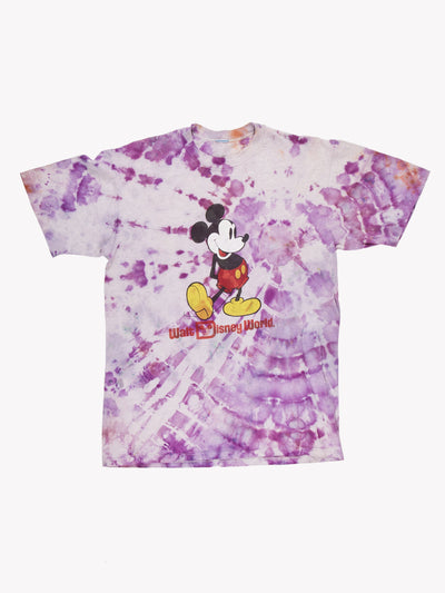 Mickey Mouse Tie Dye T-Shirt Purple/White Size Medium