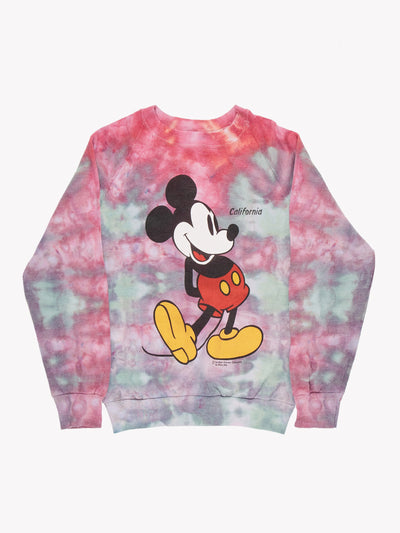 Mickey Mouse California Tie Dye Sweatshirt Pink/Green/Purple Size Small