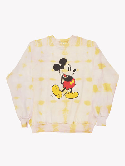Mickey Mouse Tie Dye Sweatshirt Yellow/Black/Red Size Large