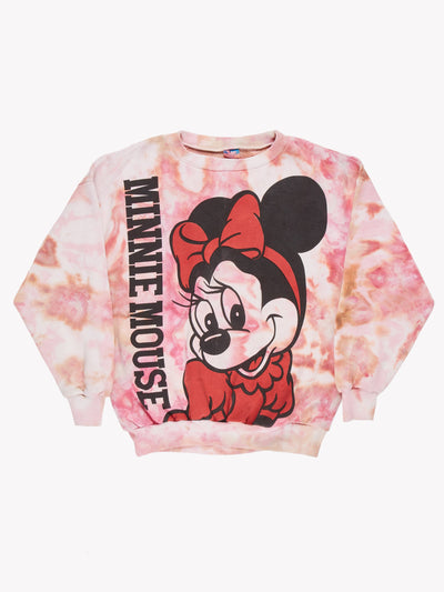 Minnie Mouse Tie Dye Sweatshirt Pink/Orange/Black Size XL