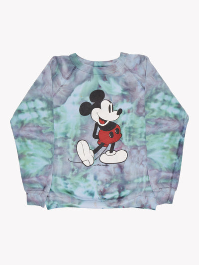 Mickey Mouse Tie Dye Sweatshirt Blue/Green/Purple Size Medium
