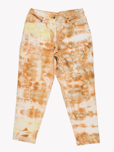 Tie Dye Mom Style Jeans Orange/Yellow Size 34x30