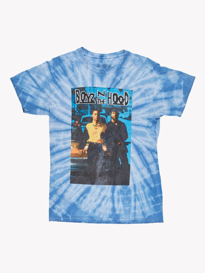 Boyz N the Hood Tie Dye T-Shirt Blue/White/Orange Size XS