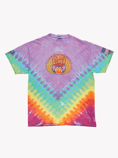 Flying Other Brothers Tie Dye T-Shirt Purple/Green/Orange Size Large