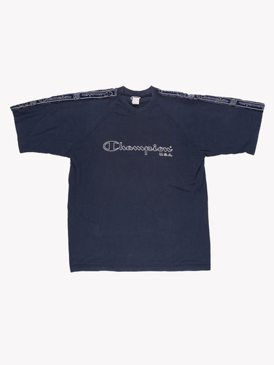 Champion T-Shirt Navy/White Size Large