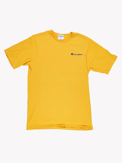 Champion T-Shirt Yellow Size Large