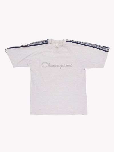 Champion T-Shirt Grey/Navy Size Small