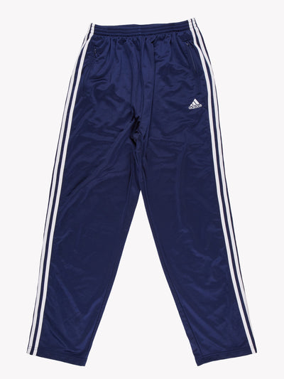 Adidas Popper Tracksuit Bottoms Blue/White Size Large