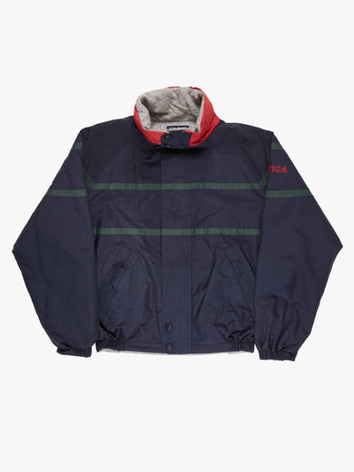 Nautica Reversible Jacket Navy/Green/Grey Size Medium
