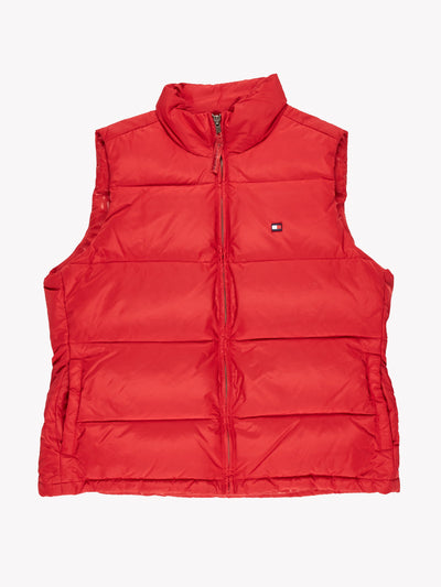 Tommy Hilfiger Puffer Gilet Red Size Medium