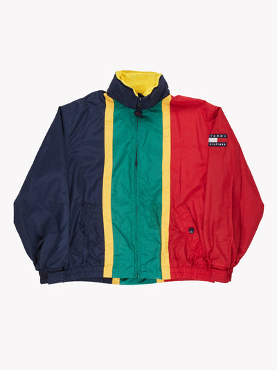 Tommy Hilfiger Jacket Navy/Green/Red Size Large