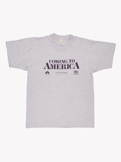 1989 Coming to America T-Shirt Grey/Purple Size Small