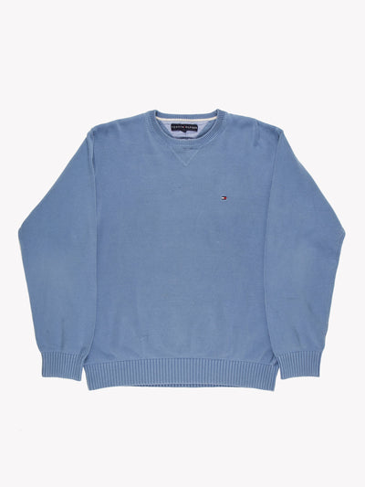 Tommy Hilfiger Knit Jumper Blue Size Large