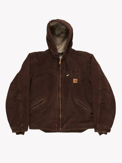 Carhartt with Fleece Lining Brown Size Large