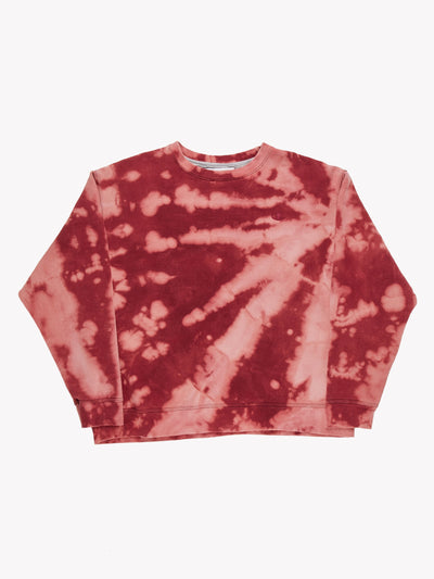 Champion Bleach Effect Sweatshirt Pink/Red Size XL