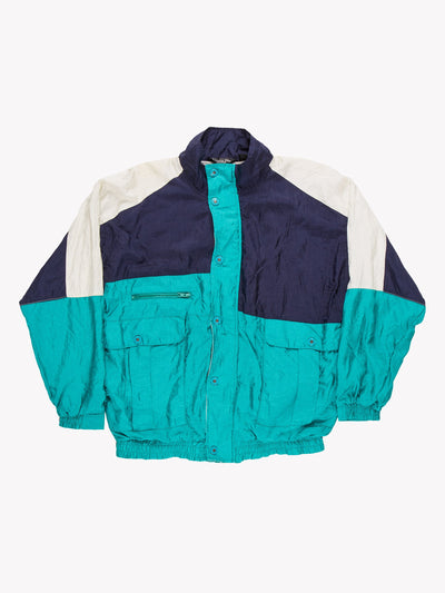 Christian Dior Windbreaker Jacket Green/Blue/White Size Medium