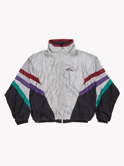 Givenchy Activewear Windbreaker Jacket Grey/Burgundy/Black Size XL