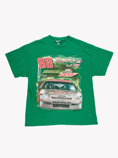 NASCAR Dale JR Racing T-Shirt Green/Red Size XL