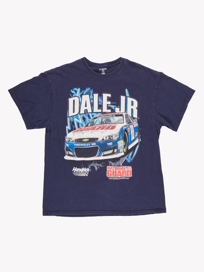 NASCAR Dale JR Racing T-Shirt Navy/White Size XL