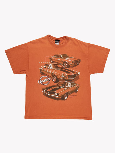 Vintage Camaro T-Shirt Orange Size Large
