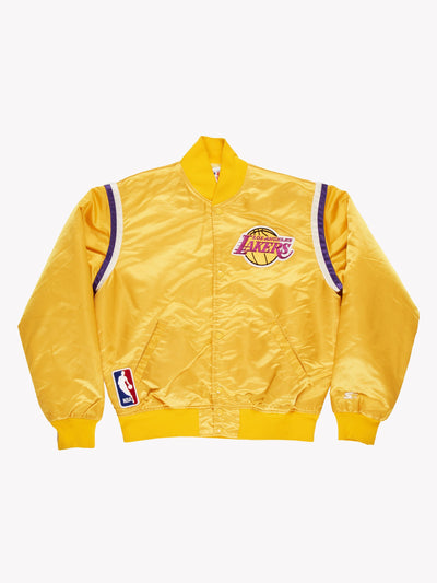 Los Angeles Lakers NBA Bomber Jacket Yellow/Purple Size Medium