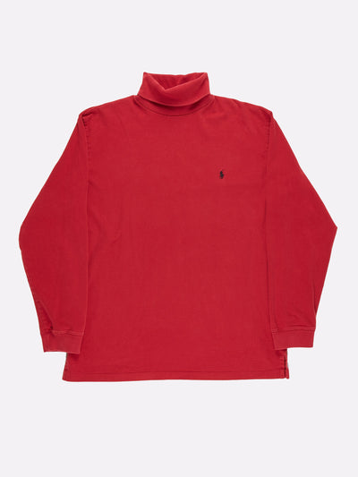 Ralph Lauren Roll Neck Red Size Large