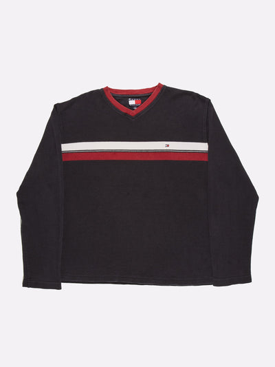 Ralph Lauren Long Sleeve T-Shirt Black/White/Red Size Large