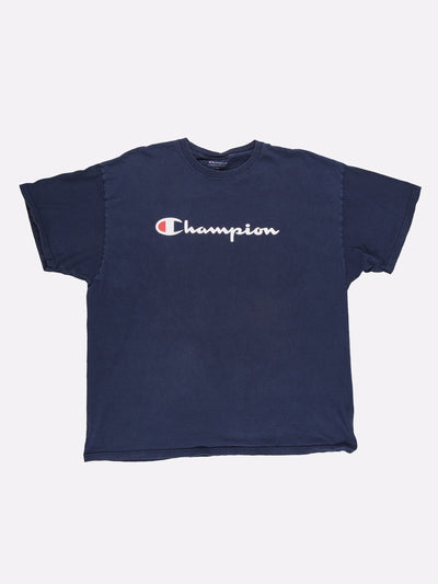 Champion T-Shirt Blue/White Size XXL