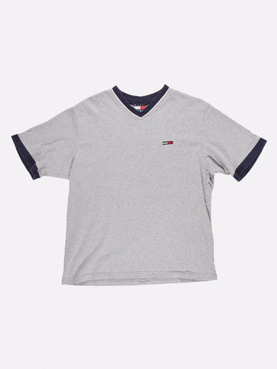 Tommy Hilfiger T-Shirt Grey/Blue Size XL