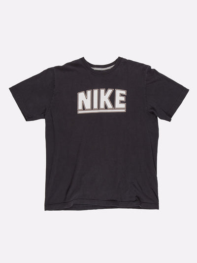 Nike T-Shirt Black/White Size Large