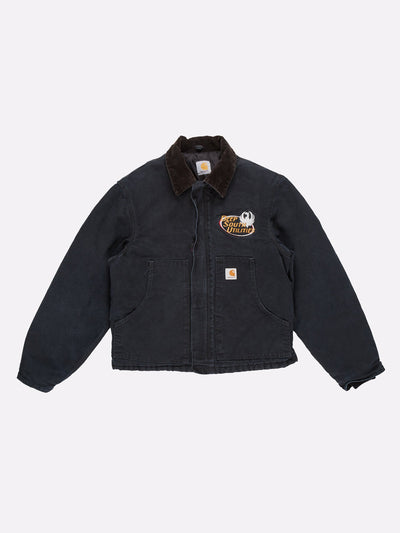 Carhartt Jacket Navy/Brown/White Size Large