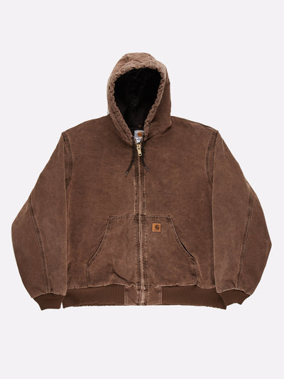 Carhartt Jacket with Hood Brown Size 2XL