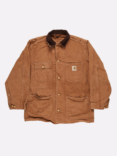 Carhartt Worker Jacket Brown Size Large