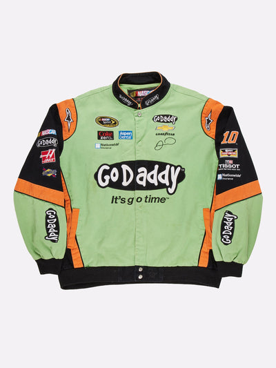 Nascar 'Go Dadddy' Jacket Green/Black/Orange Size 3XL
