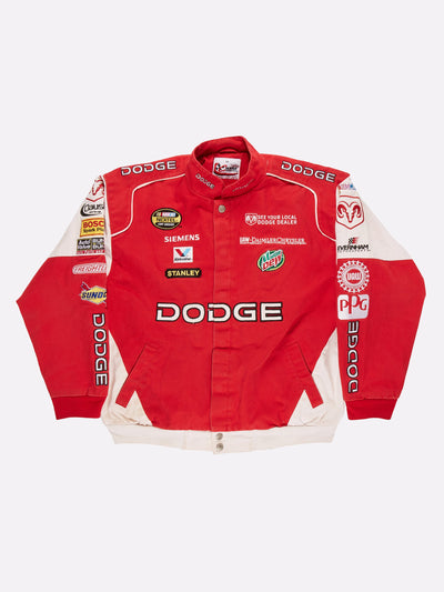 Nascar 'Dodge' Jacket Red/White Size Large