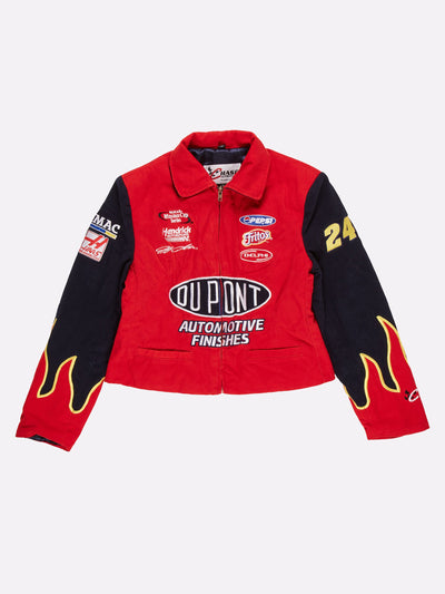 Nascar Du Point Crop Jacket Red/Navy Size Small
