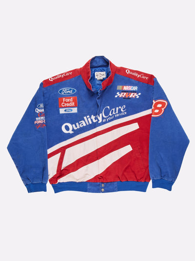 Nascar Ford Robert Yates Jacket Blue/Red/White Size XL