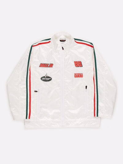 Nascar Amp Energy Jacket White/Red/Green Size XL
