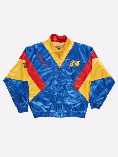 Nascar Gordon 24 Bomber Jacket Blue/Red/Yellow Size XL