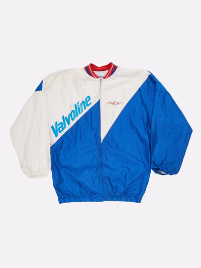 Valvoline Racing Shell Jacket Blue/White/Red Size Large
