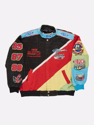 1998 Nascar Winston Cup Jacket Black/Red/Yellow Size XL