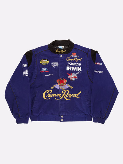 Nascar Crown Royal Jacket Purple/Gold/Black Size XL